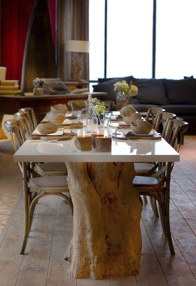 table salle a manger tronc d arbre recherche google