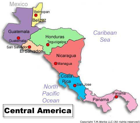 Central America Countries And Capitals To help you get started