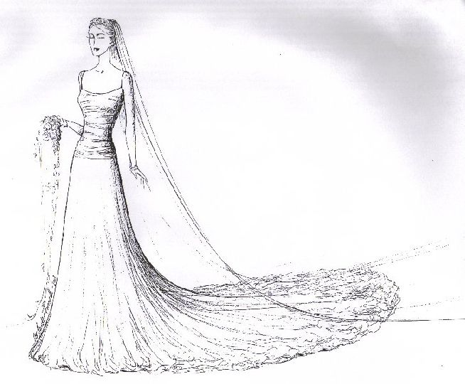 wedding gown drawings photos | fashion sketches | Pinterest | Draw ...