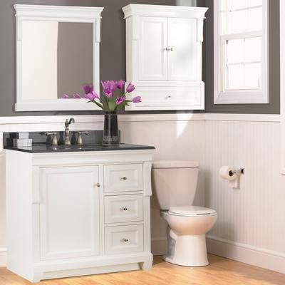 Sm vanity with drawers foremost international naples - 30 inch white bathroom vanity with drawers ...