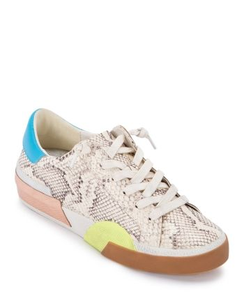 Dolce Vita Women's Zina Color Block Glitter Sneakers