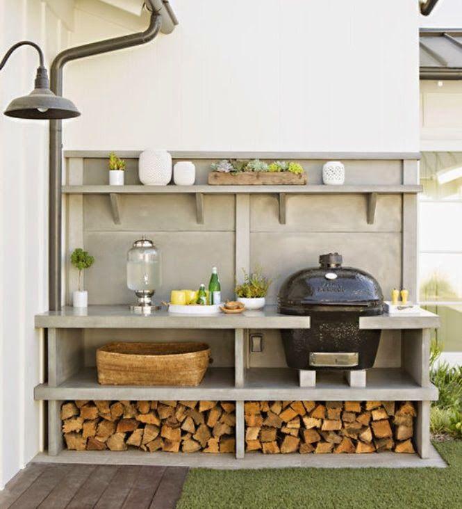 A Casual California Coastal Home Small Outdoor Kitchen Design Modern Outdoor Kitchen Outdoor Kitchen
