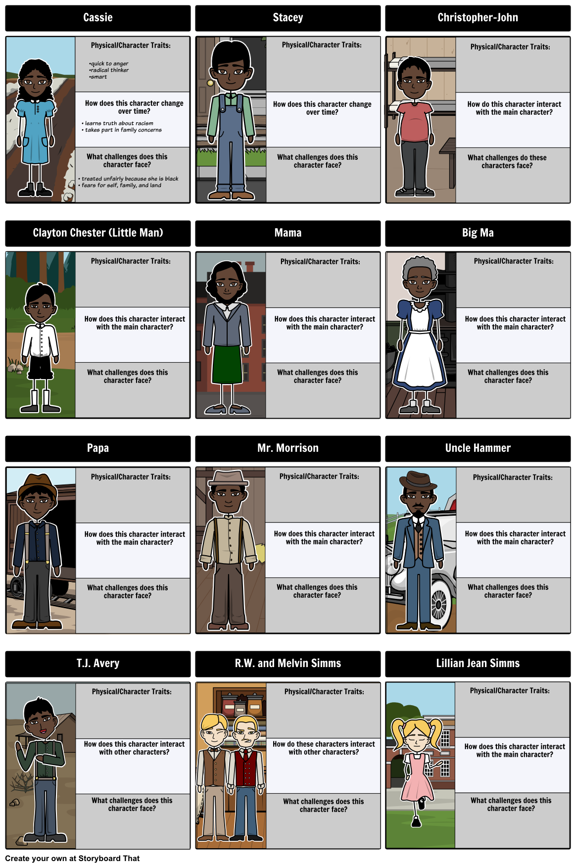 In This Activity Students Depict The Characters Of The