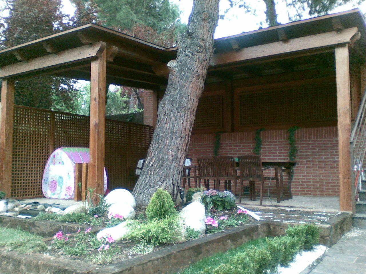 Porches garajes marquesinas pergojardin decoracion exterior de madera pergolas porches - Pergolas y porches ...