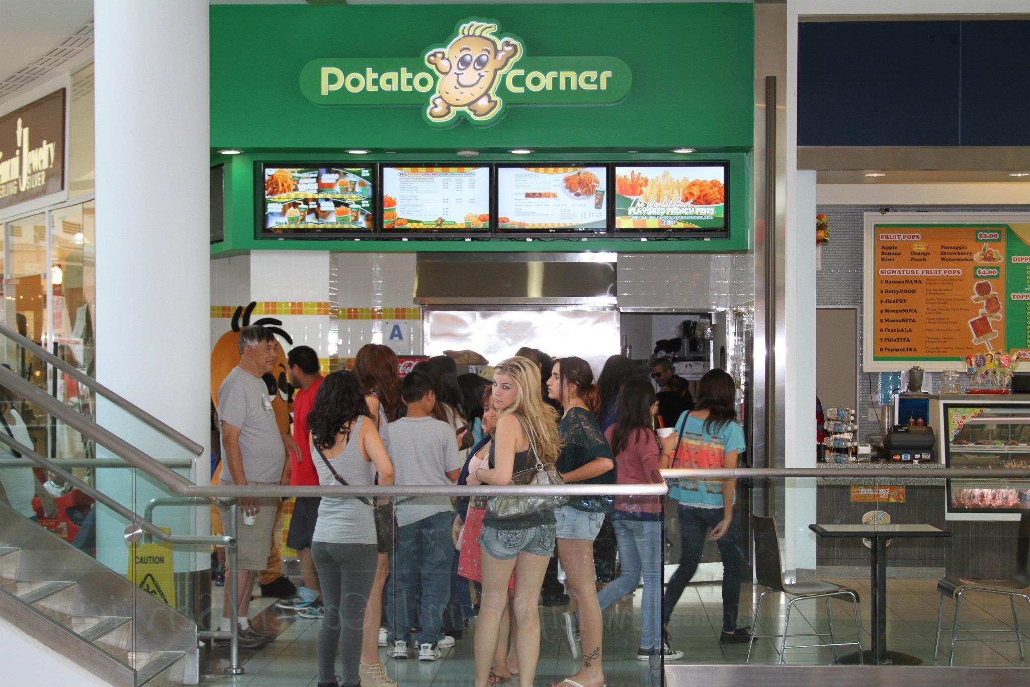 The Grand Opening For Potato Corner At The Plaza Bonita Mall