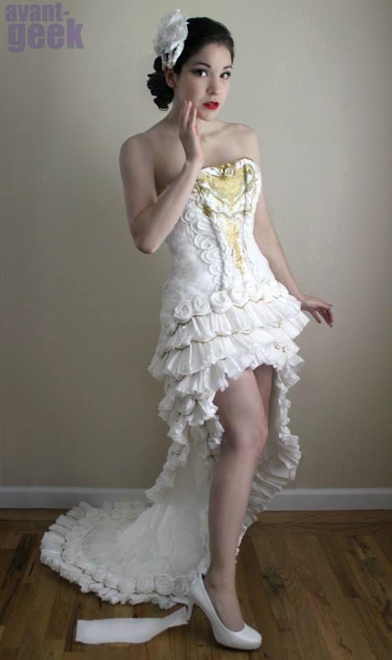 ver el vestido de boda increíbles que cuestan sólo $ 10. hecho de