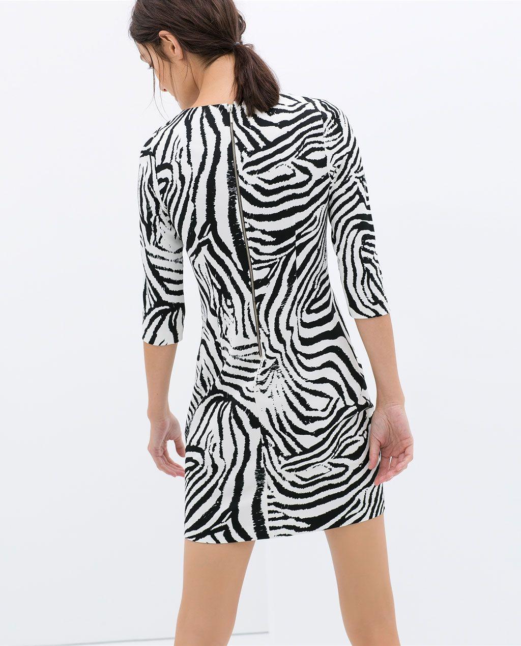 envío gratis marca popular Precio al por mayor 2019 Imagen 5 de VESTIDO ESTAMPADO CEBRA de Zara   look book ...