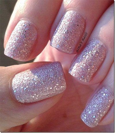 Smashing Glitter Wedding Nail Art Designs Ideas 2014 8