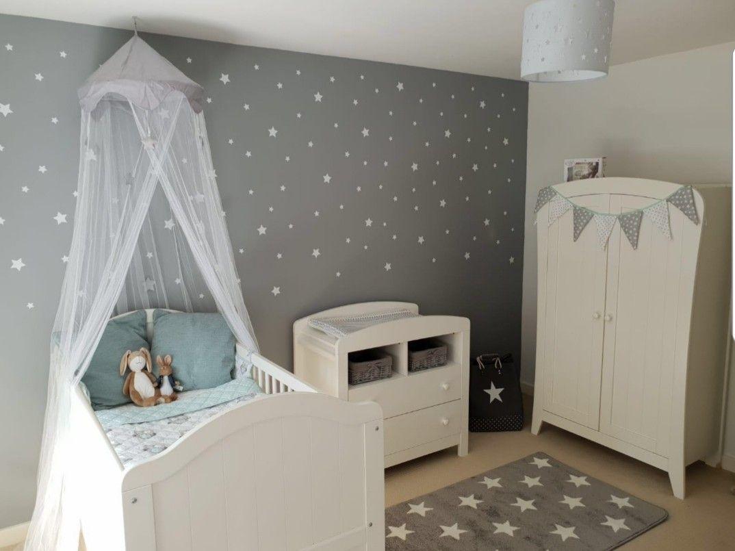 Grey White Stars Nursery Grey Baby Room Star Nursery Girl Room