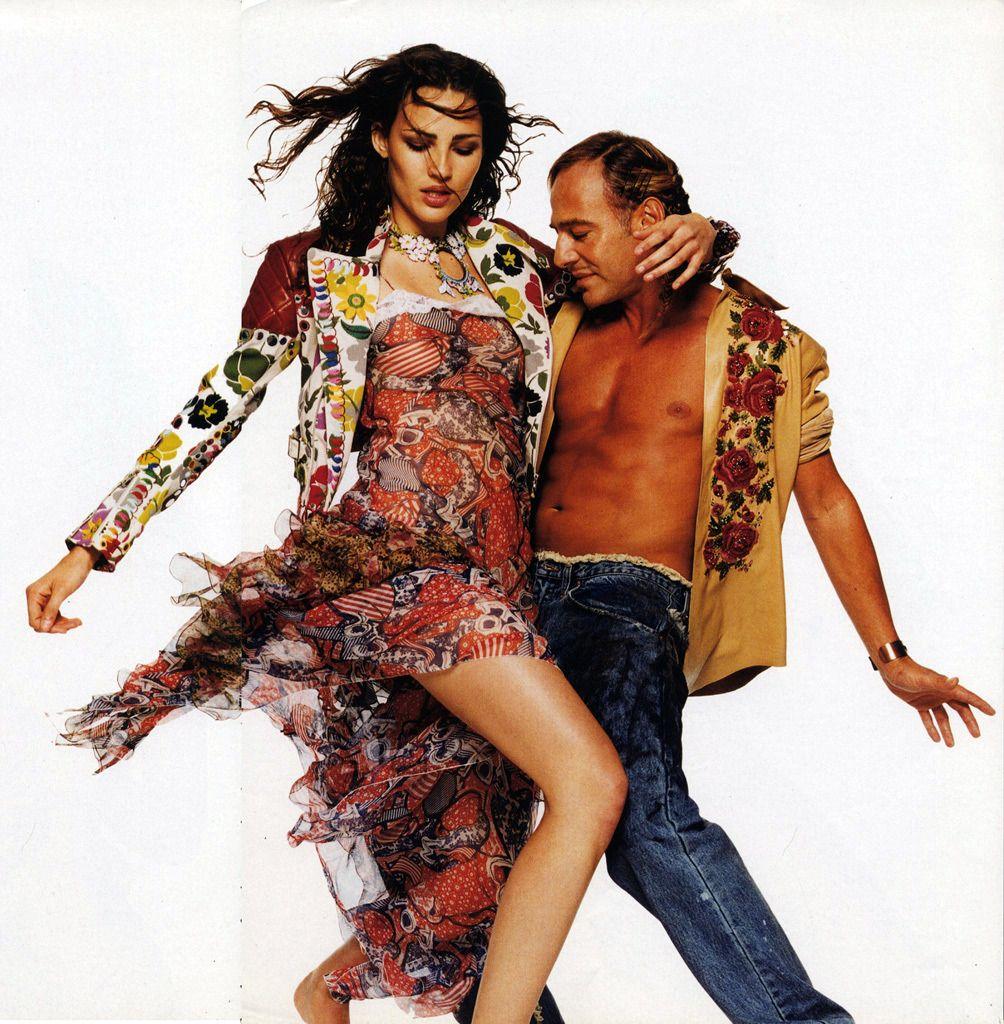 Fernanda Tavares And John Galliano Photographed By David Bailey For Harper S Bazaar Uk 1997 Fashion John Galliano Harper S Bazaar