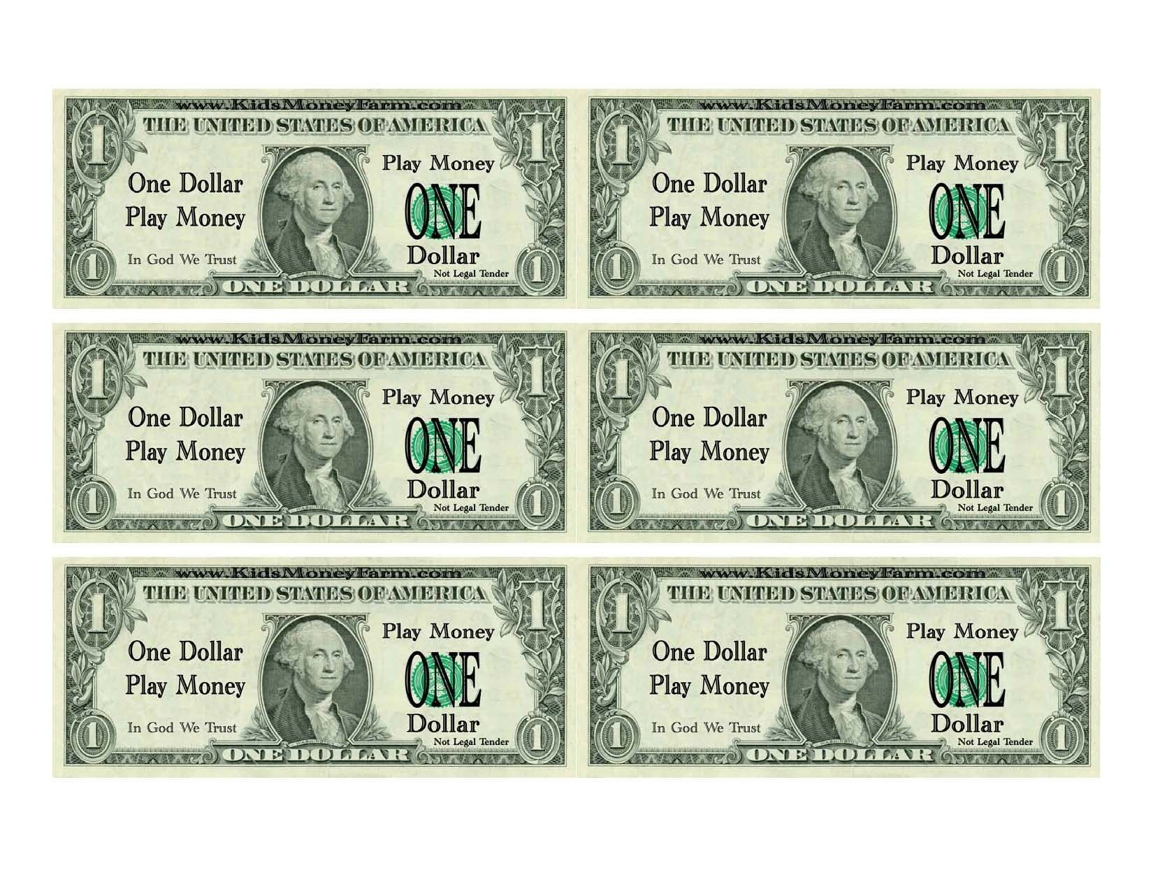 Printable Fake Money Template With