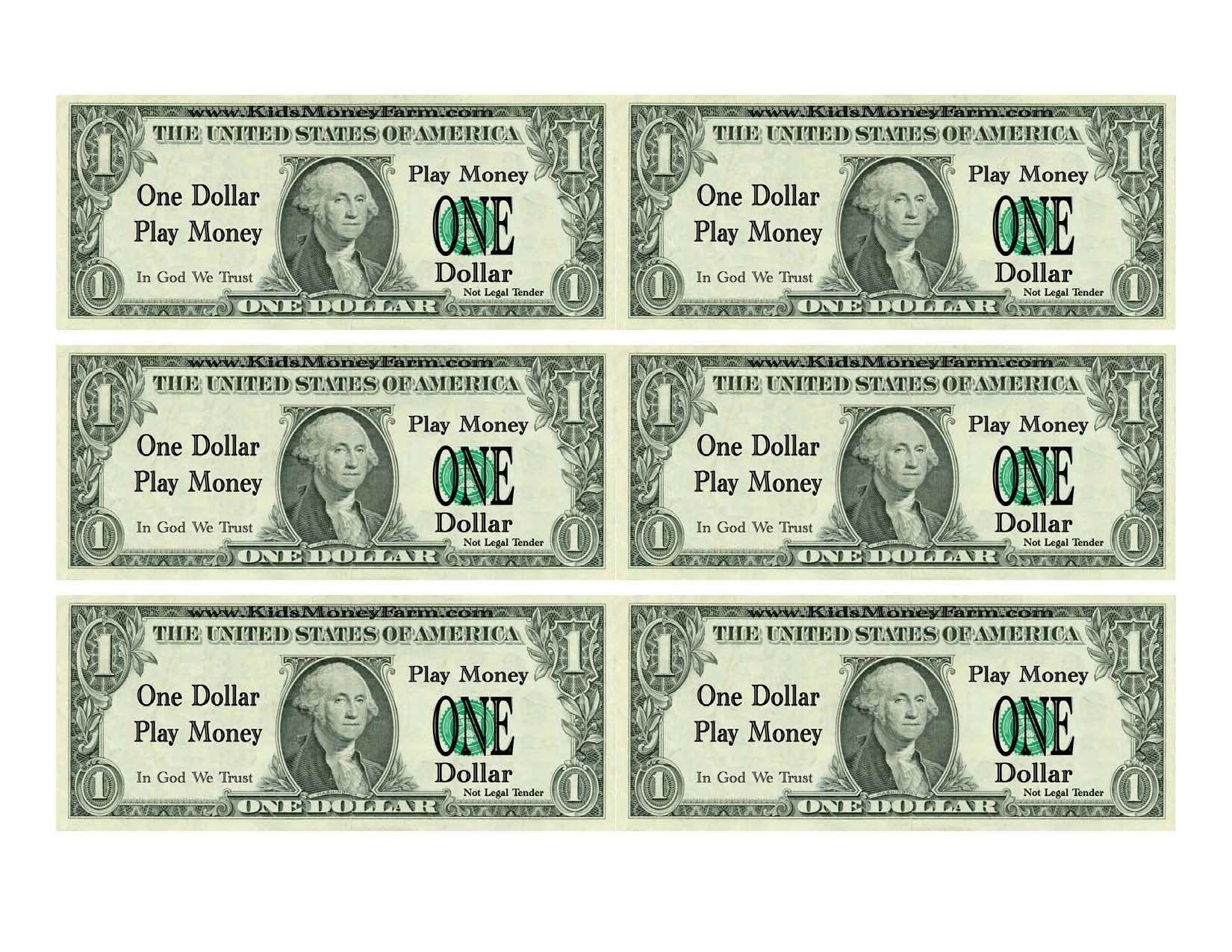 Printable Fake Money Template