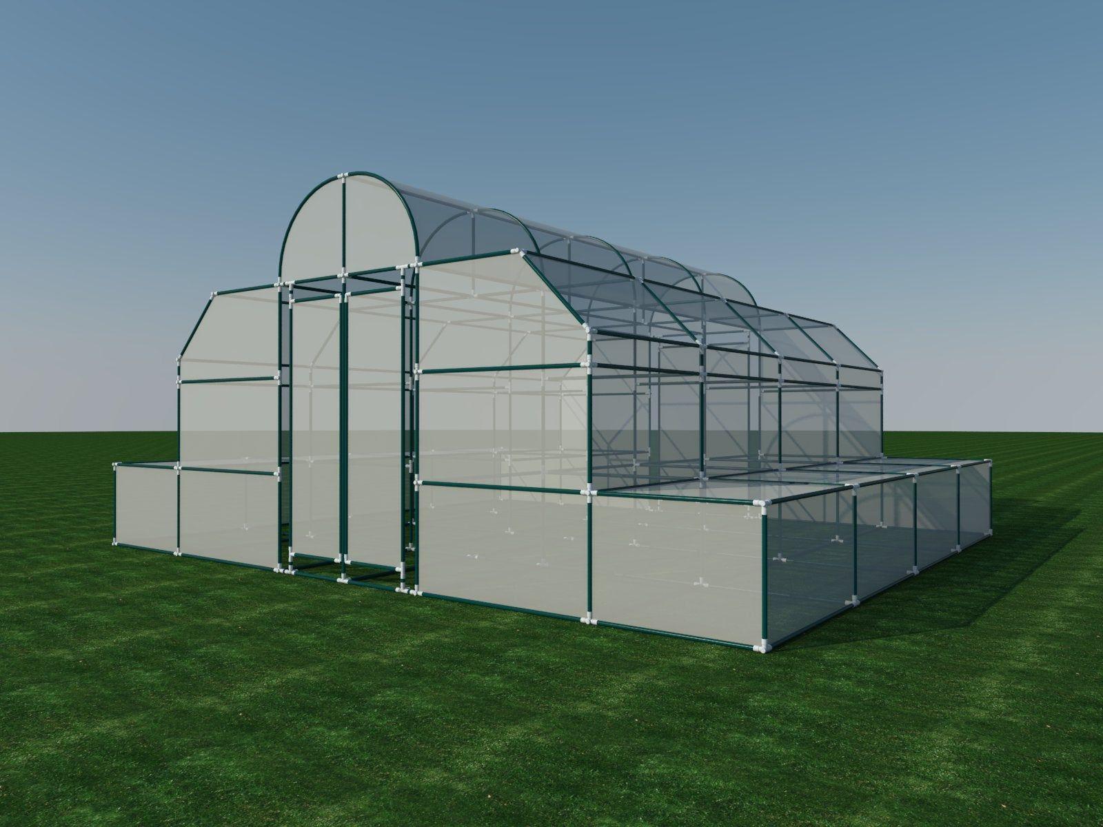 PVC Greenhouse Plans DIY Hoop House Grow Veggies Plants