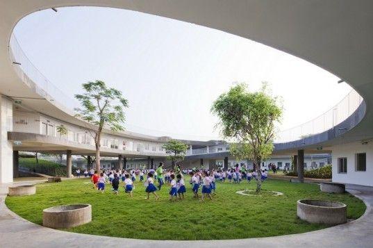 Green Roofed Farming Kindergarten Teaches 500 Vietnamese