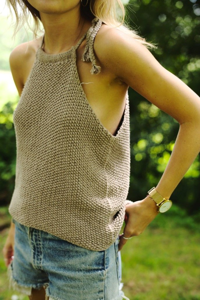 01a6b2d93a knit halter tank and cut off shorts  style  fashion  summerstyle