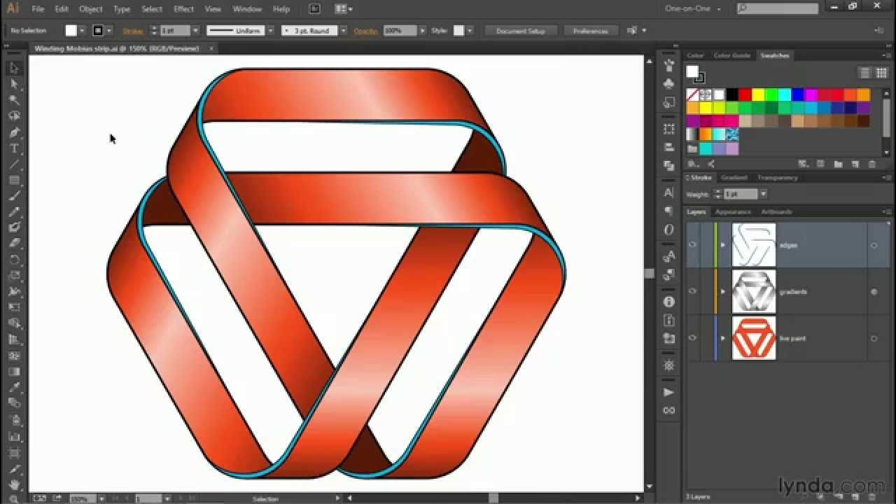 In This Tutorial Learn How To Draw A Mobius Strip That Twists