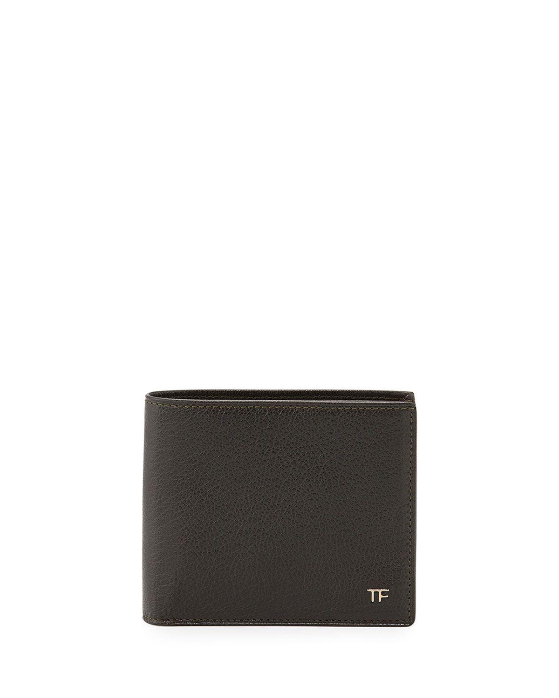 TF Leather Bi-Fold Wallet, Green