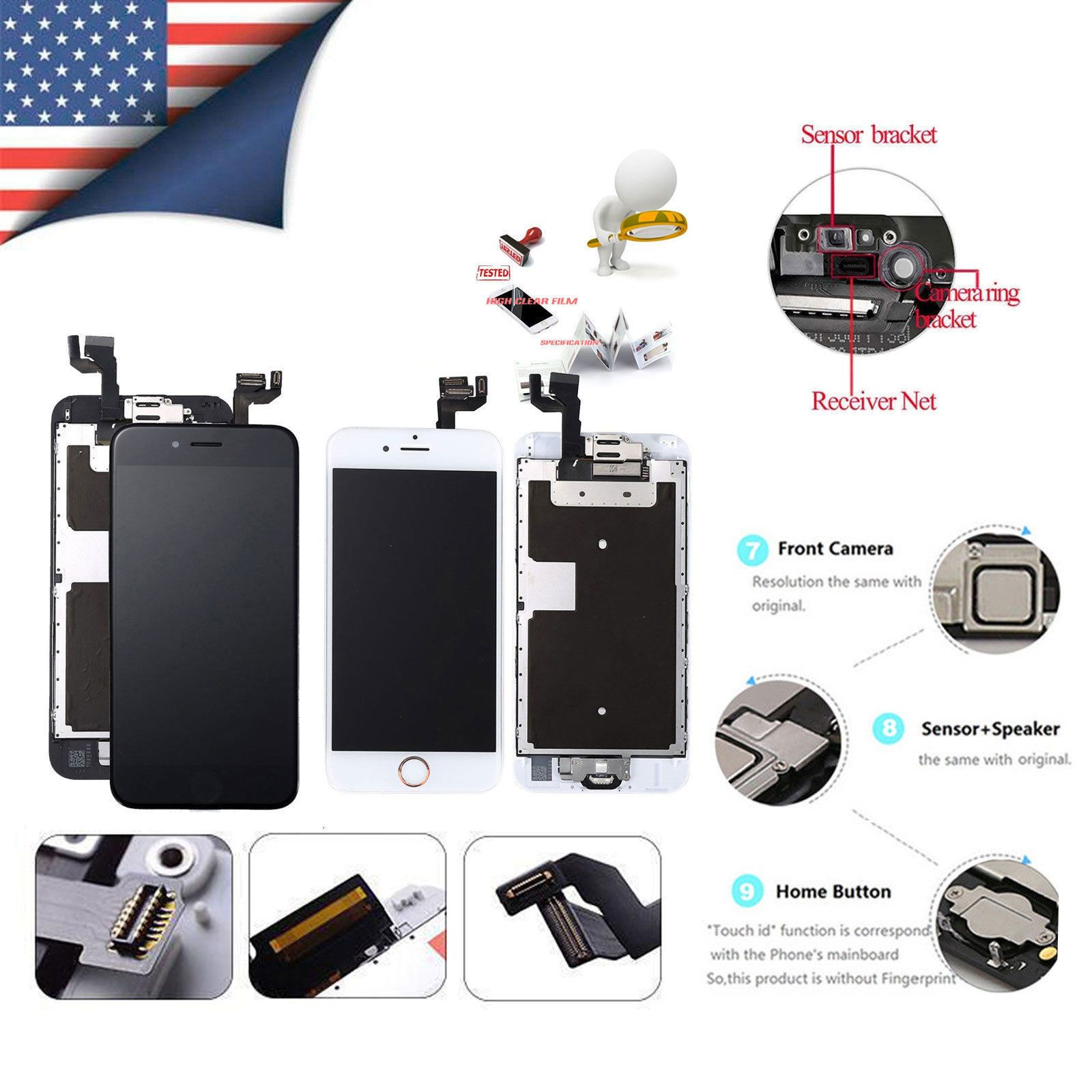 Details about complete accembly lcd digitizer screen set