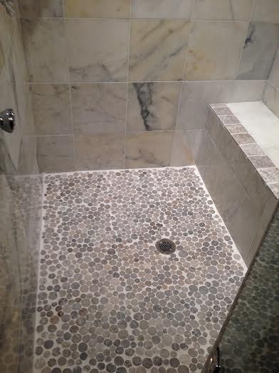 Light Grey Moon Mosaic Tile Mosaic Tiles Mosaic Shower Tile Shower Floor