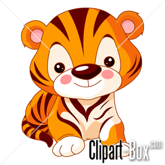Clipart Cute Baby Tiger Royalty Free Vector Design Animal Clipart Free Cartoon Tiger Cute Tigers