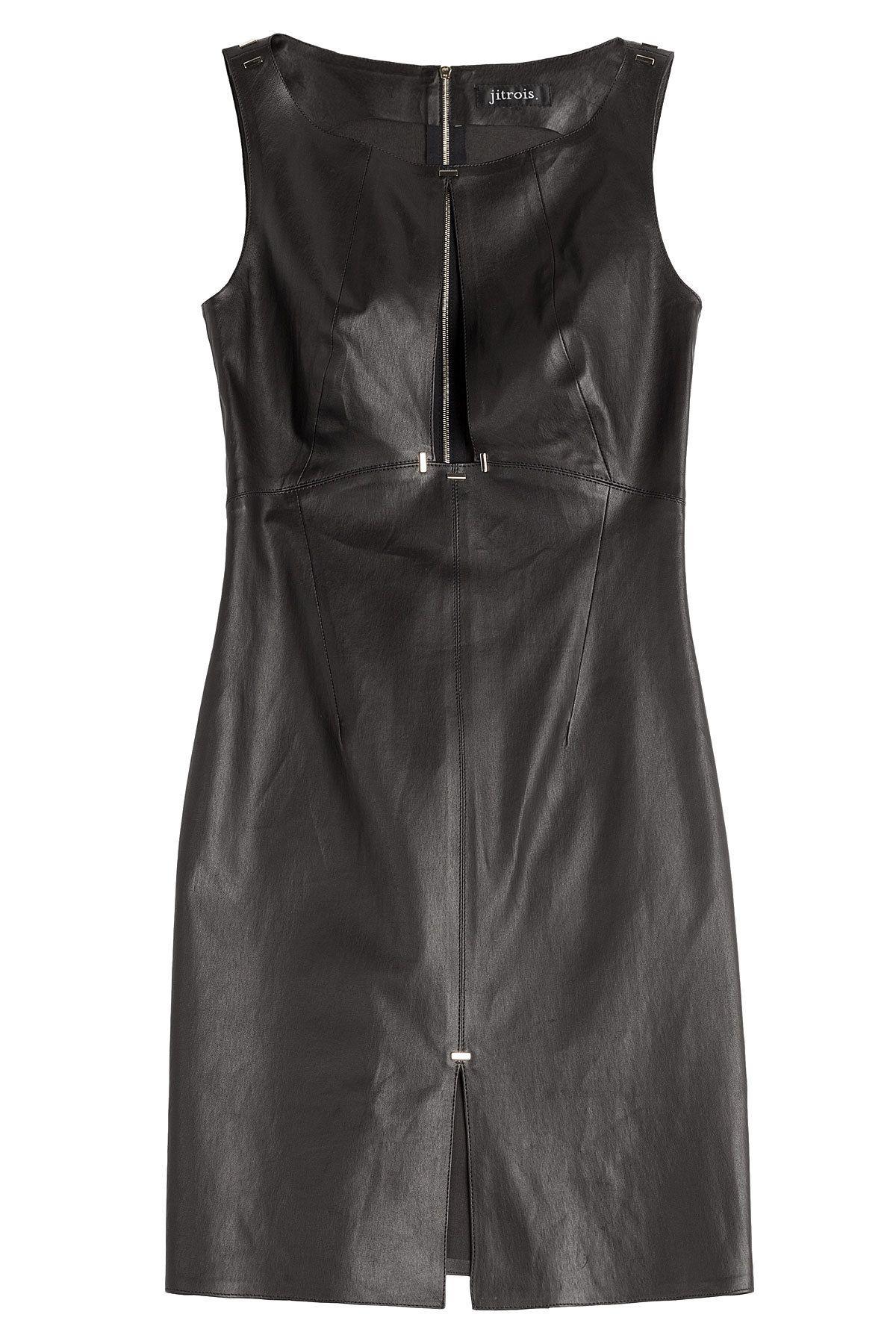 Jitrois - Leather Dress with Keyhole Front   deri elbise   Pinterest 3bbc959b6035