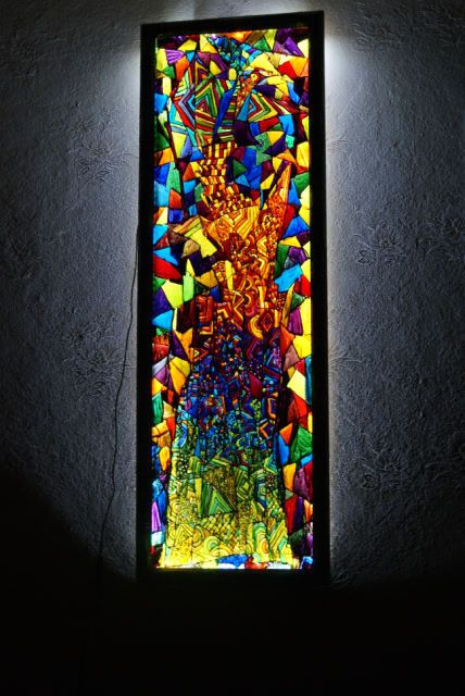Painted Stained Glass Backlit Could Be Made With A Shadow Box Frame And Led