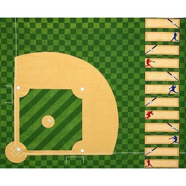 "Robert Kaufman Sports Life 3 Evergreen Baseball Diamond Panel 35"" x 44"""