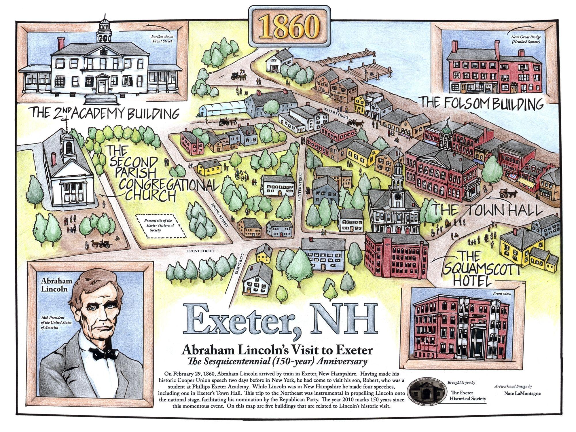 phillips exeter academy campus map Designed For The Lincoln Sesquicentennial Celebration In 2010 By phillips exeter academy campus map