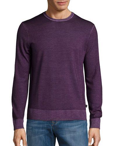 Michael Kors Merino Wool Crewneck Sweater Men's Blackberry Small