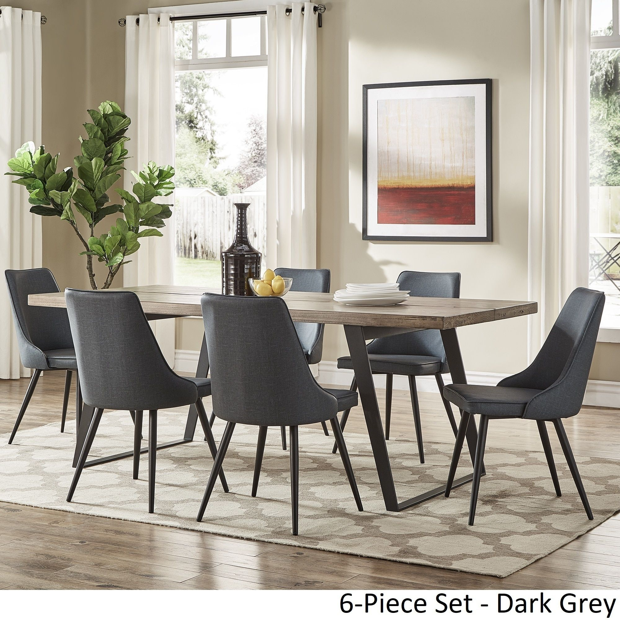 Division Mid-Century Split Top Rectangular Dining Set by ...