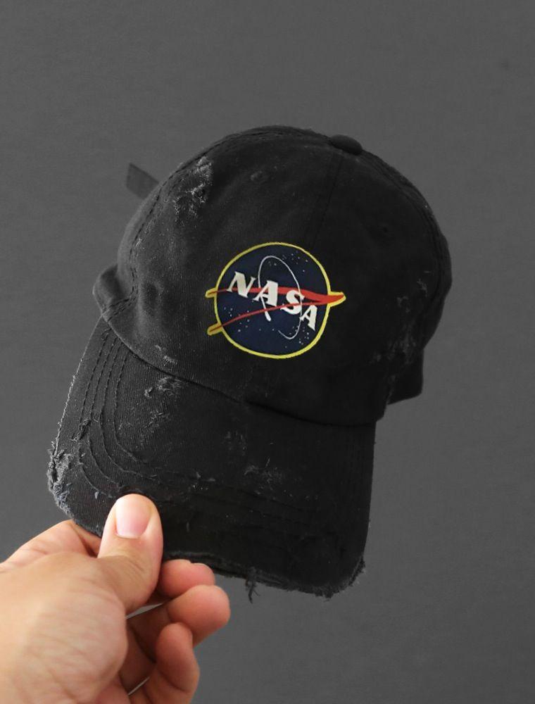 20e3ea3c KYC Vintage — Space Cadet Black Distressed Cap Vintage Space, Snapback Hats,  Strapback Cap