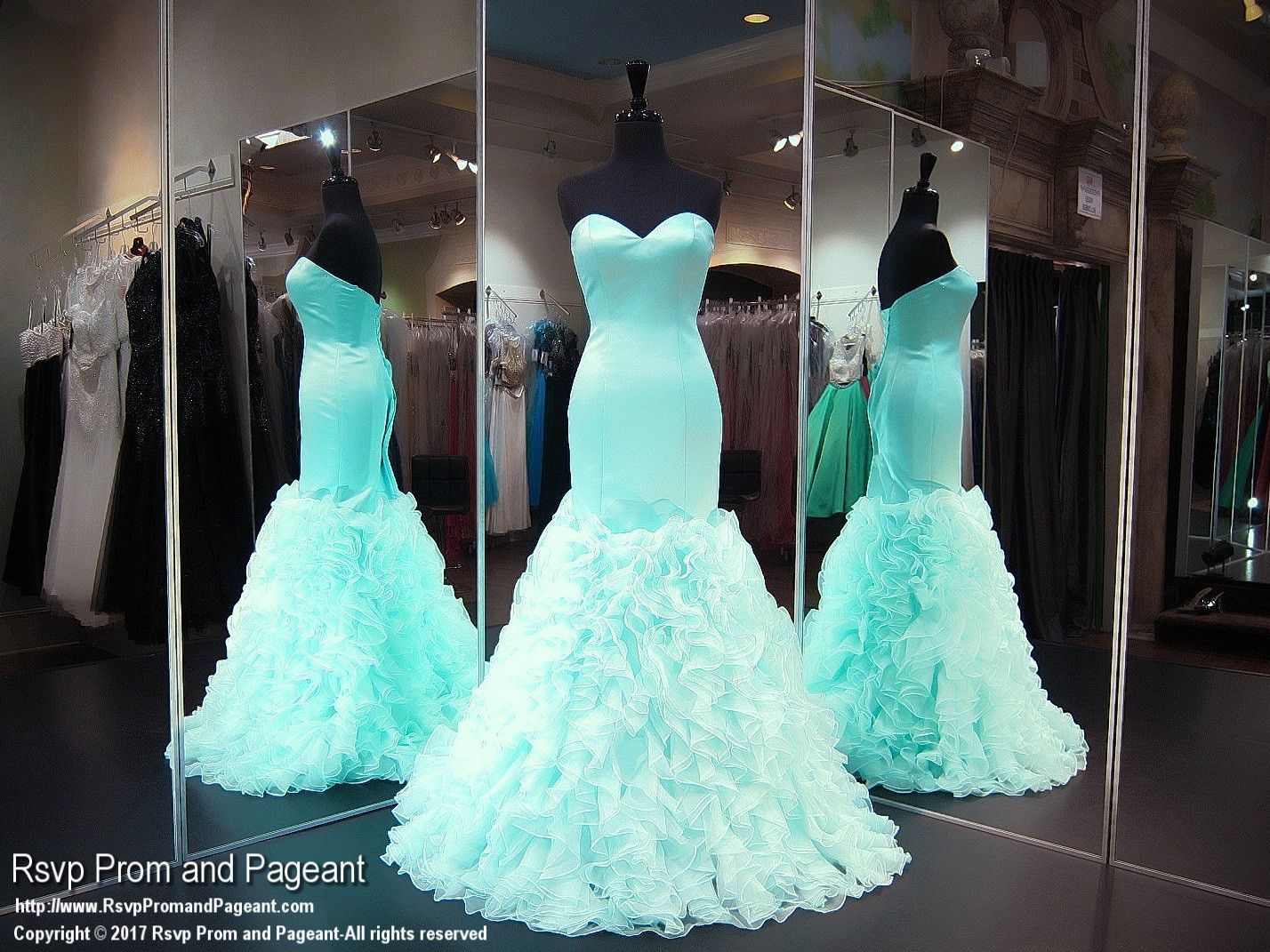Aqua/Nude Lace Mermaid Evening Gown 2016 Piping Prom Dresses With ...