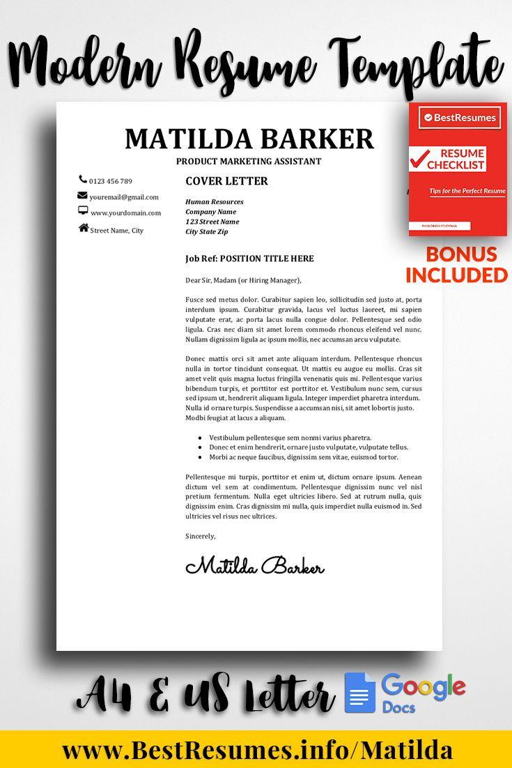 professional resume template matilda barker