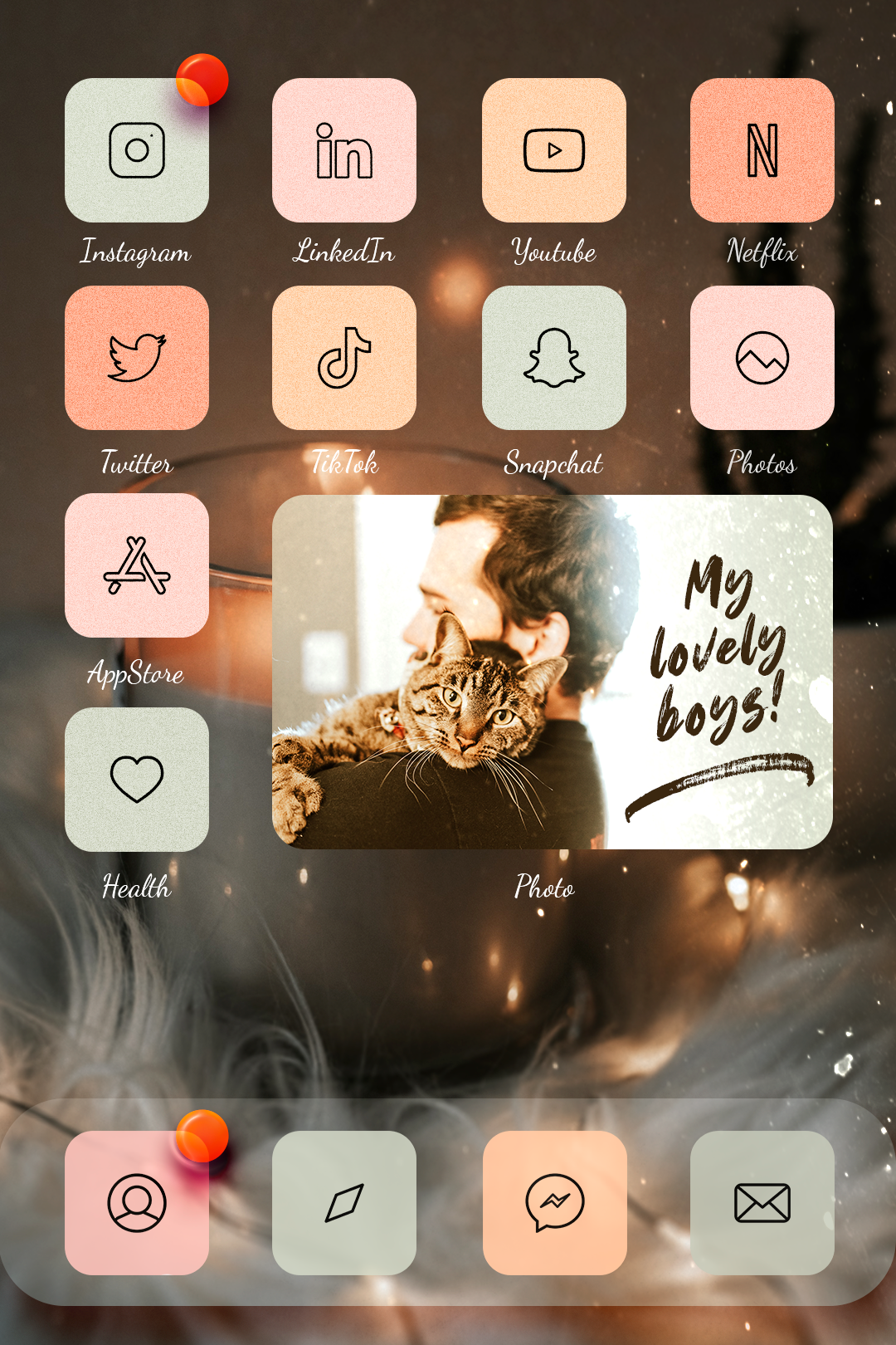 Stylish Icons Widgets Iphone Wallpaper App Iphone App Layout Iphone Design