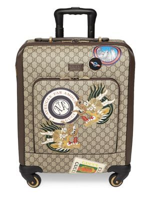 GUCCI GG Supreme Patches Carry-On Case. #gucci #bags #leather #hand bags #canvas #