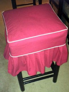 After I finish this row...studio stool slipcovers