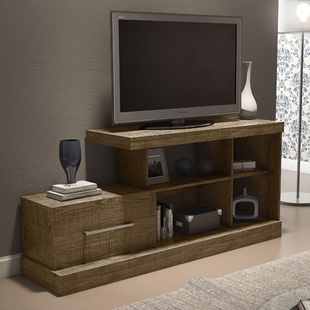 Gostou Desta Rack Para Tv Porta Deslizante R202 Rr R Stico Fosco  # Muebles Rudnick