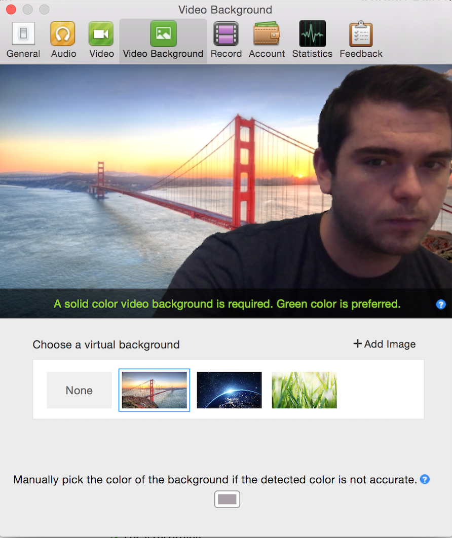 Virtual Background Using Zoom For Recording Videos With A Green