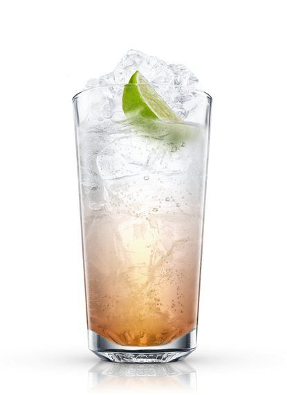 Rum-tonic - Fill a chilled highball glass with ice cubes. Add all ingredients. Garnish with lime. 1 Part Aged Rum of Cuban Type, 3 Parts Tonic Water, 1 Wedge Lime