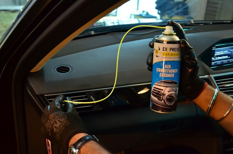Car Air Conditioner Cleaner Automatic car wash, Steam