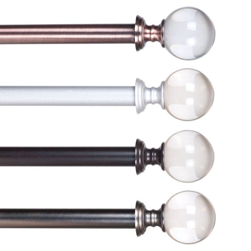 Lavish Home Crystal Ball Curtain Rod Curtain Rod Hardware