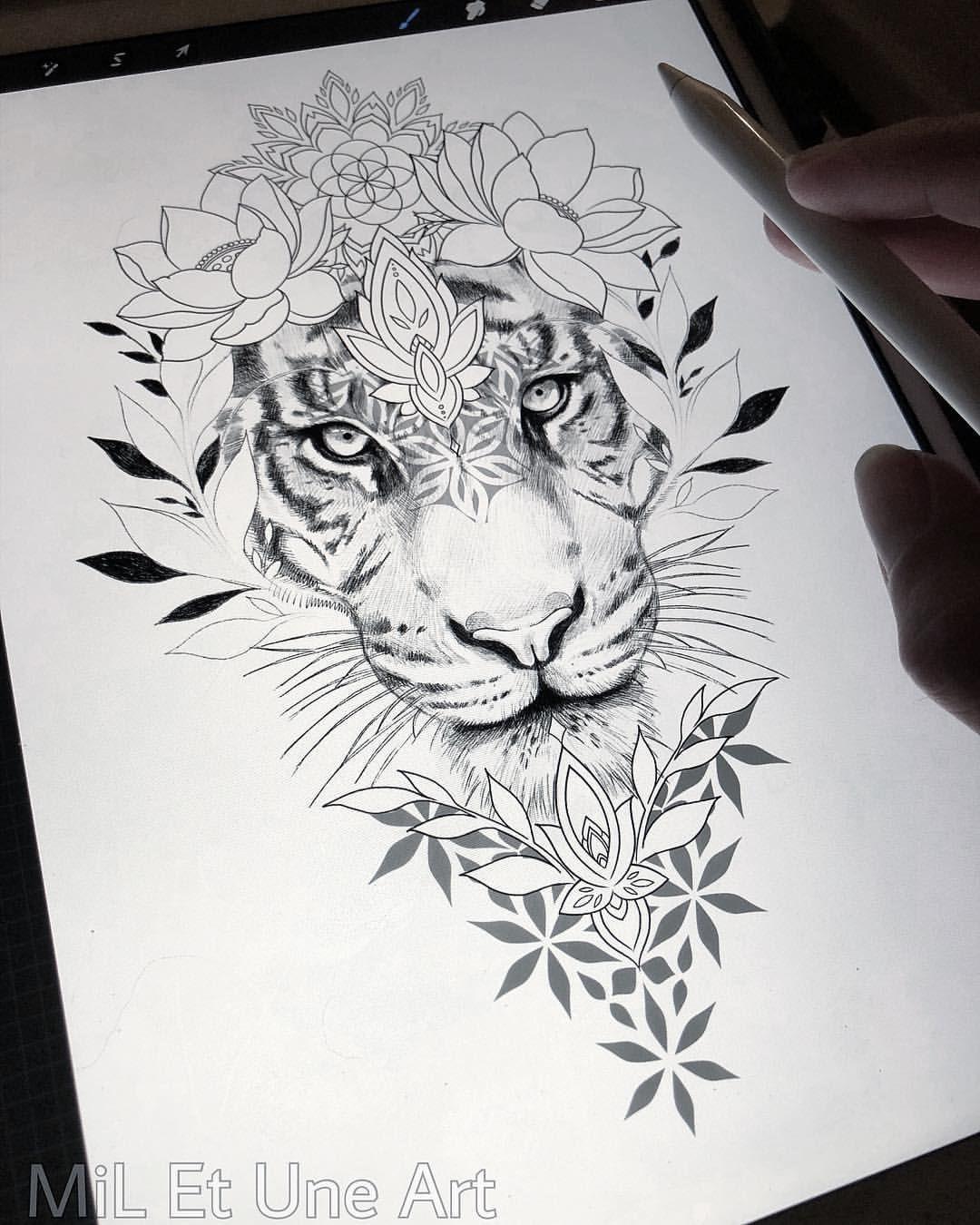 "MiL Et Une ~ Art & Tattoo on Instagram: ""✏️🌸🌿 @procreate #miletune"""