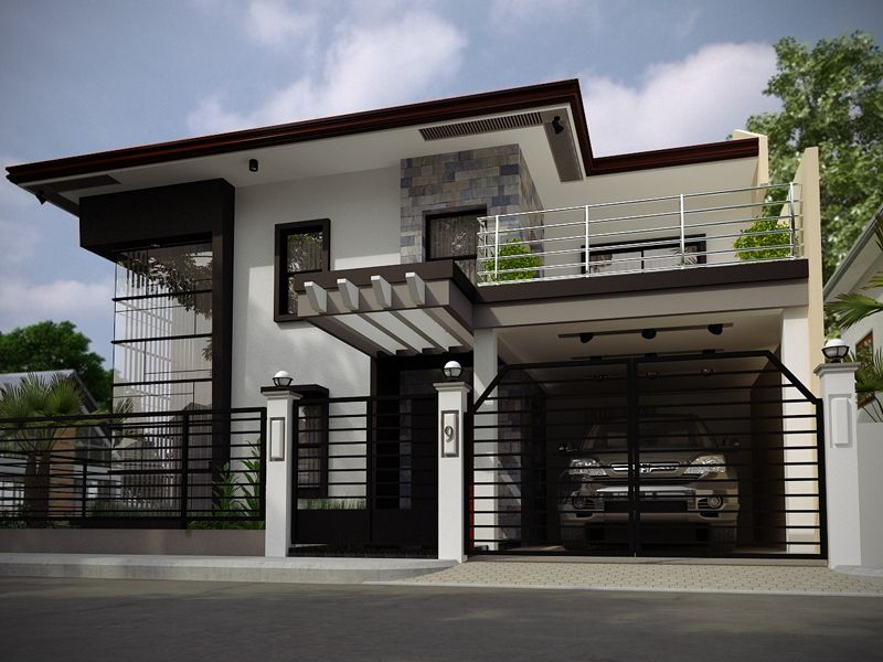 This modern house is located in Philippines and offers a ...