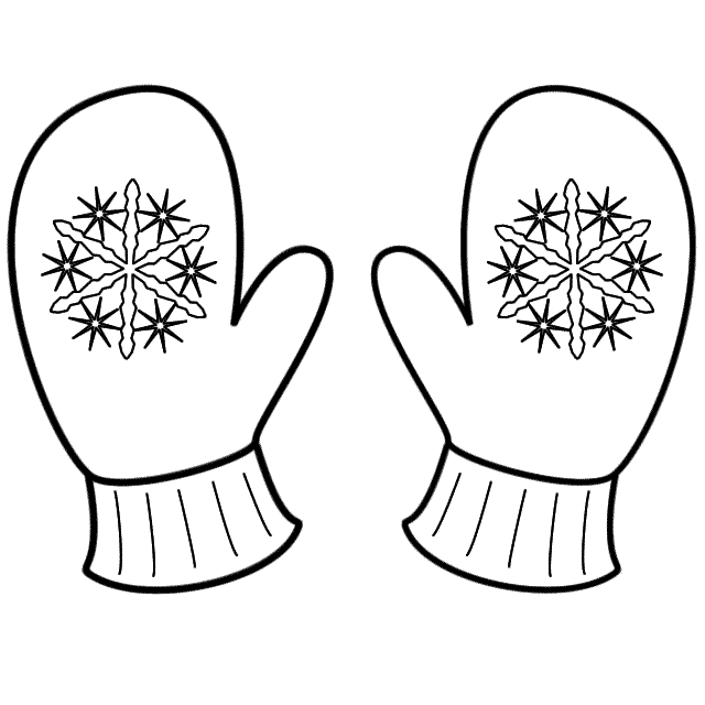 Mittens With Snowflakes Coloring Page Christmas Snowflake Coloring Pages Christmas Coloring Pages Coloring Calendar