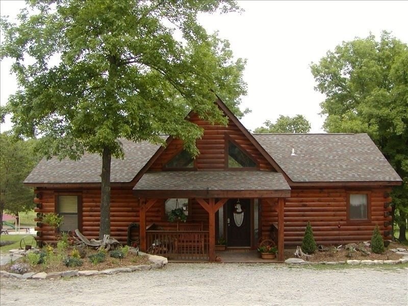 Awesome Log Cabin Overlooking Pool And Playground Branson Cedars Log Cabin Rentals Cabin Cabin Vacation