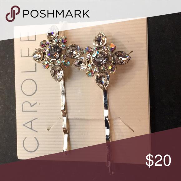 Pair of Crystal Hair pins