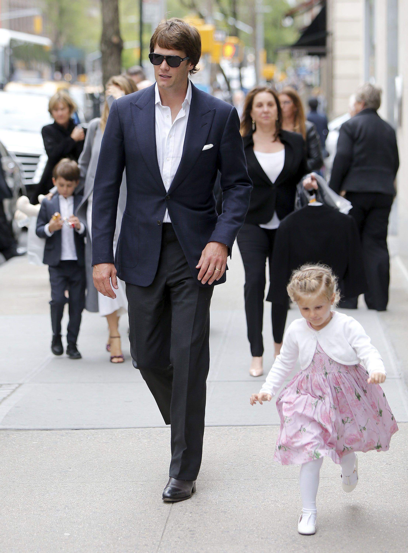 Tom Brady & Gisele Bündchen Step Out In Style - http://site.celebritybabyscoop.com/cbs/2016/04/30/gisele-bundchen-style #AList, #BenjaminBrady, #GiseleBundchen, #Model, #NewYorkCity, #NFL, #NYC, #Supermodel, #TomBrady, #VivianBrady