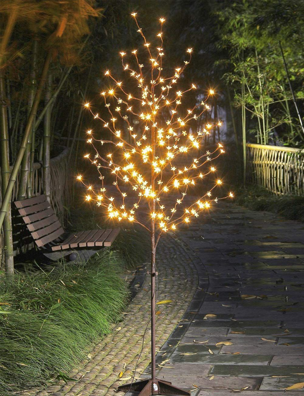 Hi Line Gift Ltd Cherry Blossom Tree 288 Light Lamp In 2021 Cherry Blossom Light Tree Cherry Blossom Tree Lighted Tree Branches