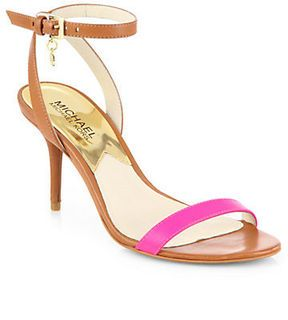 do simple summer sandals in neon and tan