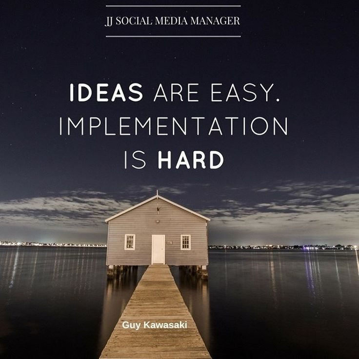 Ideas are easy implementation is hard #business #marketing #social #media #quote #seo #inspire #Entrepreneur #quotes #success #ideas #online #quoteoftheday